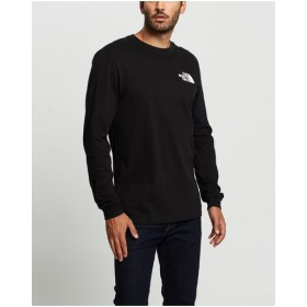 LS Box NSE Tee The North Face TNF Black Lightweight Fitted XDVMAEP
