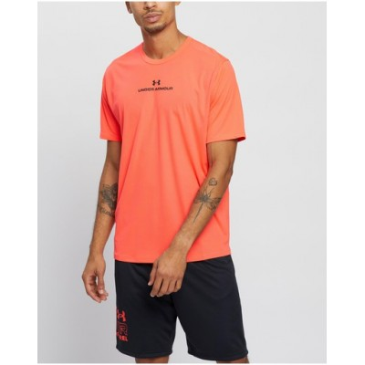 Man CoolSwitch SS Training Tee Tops Under Armour Beta & Black Wrinkle Free Trending UUDQZAY